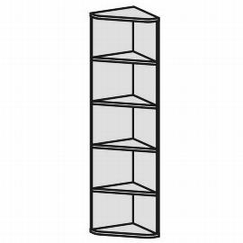 Geramöbel Eckabschlussregal 5OH Serie Pro 10RE5 mit 4 Einlegeböden (BxTxH) 425x425x1920mm Ahorn