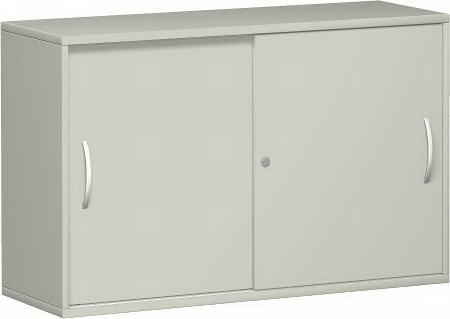 Geramöbel Schiebetürenschrank 2OH Serie Pro 10S210 mit 2 Böden (BxTxH) 1000x425x768mm Buche/Buche