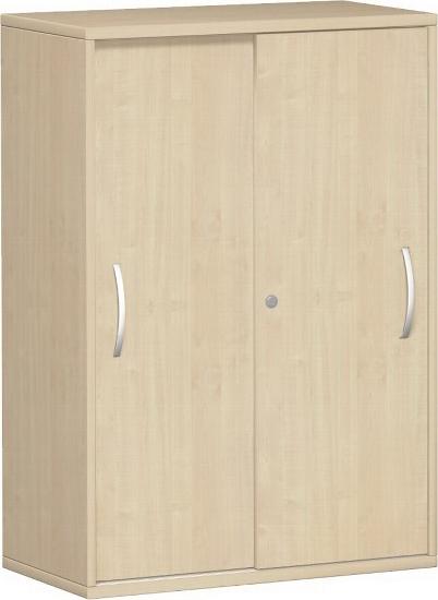 Geramöbel Schiebetürenschrank 3OH Serie Pro 10S308 mit 2 Böden (BxTxH) 800x425x1152mm Ahorn/Ahorn