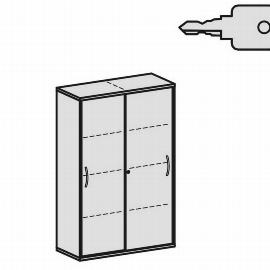 Geramöbel Schiebetürenschrank 4OH Serie Pro 10S410 mit 6 Böden (BxTxH) 1000x425x1536mm Ahorn/Ahorn
