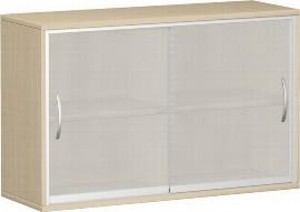 Geramöbel Schiebetürenschrank 2OH Serie Pro 10SG212 Glas-Schiebetüren 2 Böden (BxTxH) 1200x425x768mm Ahorn