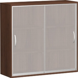 Geramöbel Schiebetürenschrank 3OH Serie Pro 10SG316 Glas-Schiebetüren 4 Böden (BxTxH) 1600x425x1152mm Ahorn