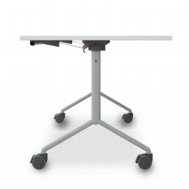 Geramöbel 13KP1608 Klapptisch Gestell auf Rollen (BxTxH) 1600x800x720mm Ahorn/Silber