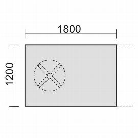 Geramöbel 13TE1812 Konferenztisch Tellerfuß Endelement 1 Fuß feste Höhe (BxTxH) 1800x1200x720mm Ahorn