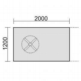 Geramöbel 13TE2012 Konferenztisch Endelement rechteckig 1 Tellerfuß feste Höhe (BxTxH) 2000x1200x720mm Ahorn