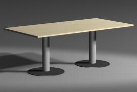 Geramöbel 13TN2012 Konferenztisch Tellerfuß feste Höhe (BxTxH) 2000x1200x720mm Ahorn
