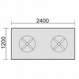 Geramöbel 13TN2412 Konferenztisch Tellerfuß feste Höhe (BxTxH) 2400x1200x720mm Ahorn