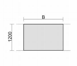 Gerämöbel 13TNZ1812 Konferenztisch Tellerfuß Zwischenelement feste Höhe (BxTxH) 1800x1200x720mm Ahorn