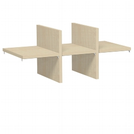 Geramöbel 381710 Regalausfachungs-Set für Korpusbreite 800mm Ahorn