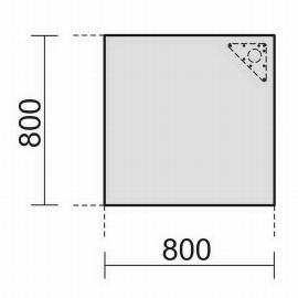 Geramöbel 520008 Verkettungsplatte 4-Fuß ECO Volleck 90° feste Höhe 72cm (BxT) 80x80cm Ahorn/Lichtgrau