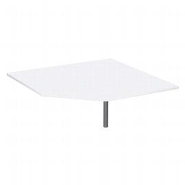 Geramöbel 520010 Verkettungsplatte 4-Fuß ECO Fünfeck 90° feste Höhe 72cm (BxT) 122,5x122,5cm Ahorn/Lichtgrau