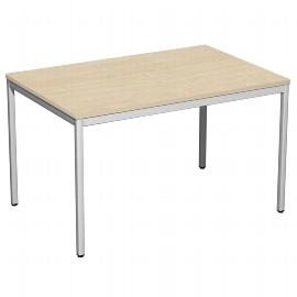 Geramöbel 520102 Schreibtisch 4-Fuß ECO feste Höhe 72cm (BxT) 120x80cm Ahorn/Lichtgrau