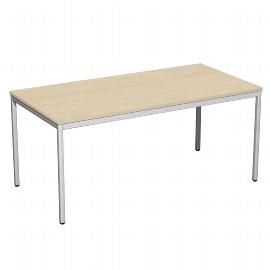 Geramöbel 520103 Schreibtisch 4-Fuß ECO feste Höhe 72cm (BxT) 160x80cm Ahorn/Lichtgrau