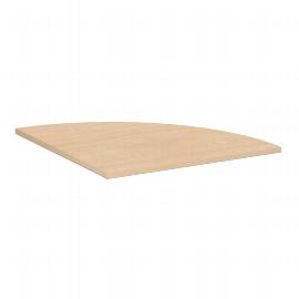 Geramöbel 520108 Verkettungsplatte 4-Fuß ECO Viertelkreis 90° feste Höhe 72cm (BxT) 80x80cm Ahorn