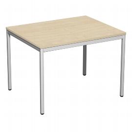 Geramöbel 520144 Schreibtisch 4-Fuß ECO feste Höhe 72cm (BxT) 100x80cm Ahorn/Lichtgrau