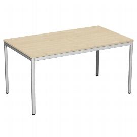Geramöbel 520145 Schreibtisch 4-Fuß ECO feste Höhe 72cm (BxT) 140x80cm Ahorn/Lichtgrau