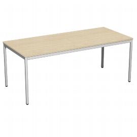 Geramöbel 520146 Schreibtisch 4-Fuß ECO feste Höhe 72cm (BxT) 180x80cm Ahorn/Lichtgrau