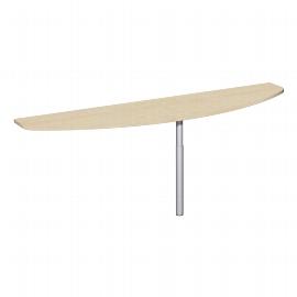 Geramöbel 520253 Anbautisch halbrund feste Höhe 72cm (BxT) 200x50cm Ahorn/Lichtgrau