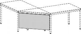 Geramöbel 520610 Knieraumblende für Eckplatte 90° H 52cm Ahorn