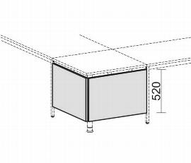 Geramöbel 520623 Knieraumblende für Volleckplatte 90° H 52cm (2er Set) Ahorn