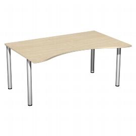 Geramöbel 550336 Schreibtisch 4-Fuß Flex ERGOform feste Höhe (BxTxH) 160x100x72cm Ahorn/Silber