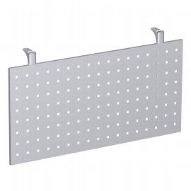 Geramöbel Knieraumblende 555712-S 4-Fuß Flex für 90° Verkettung Höhe 40cm Lochblech Silber