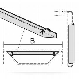 Geramöbel 555904 PC-Elektrifizierungs-Set für 4-Fuß Flex Schreibtische (Kabelwanne/Zubehör) Breite 100cm Anthrazit