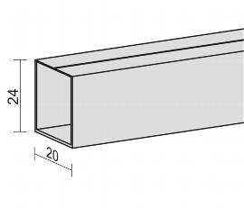 Geramöbel 555925 Kunststoffkabelkanal selbstklebend für Fünfeck-Platte Schwarz