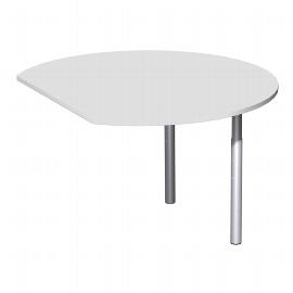 Geramöbel 617207 Anbautisch Rund C-Flex (BxT) 120x104.7cm höhenverstellbar Ahorn/Silber