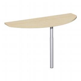 Geramöbel Anbautisch vorne 617240 C-Fuß Flex (BxT) 120x50cm höhenverstellbar Ahorn/Silber