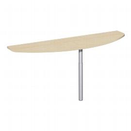 Geramöbel Anbautisch vorne 617241 C-Fuß Flex (BxT) 160x50cm höhenverstellbar Ahorn/Silber