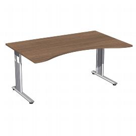 Geramöbel Schreibtisch 617336 ERGOForm C-Fuß höhenverstellbar 68-82cm (BxT) 160x100cm Ahorn/Silber