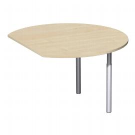Geramöbel 647207 Anbautisch rund mit Stützfüßen (BxTxH) 1047x1200x680-820mm Ahorn/Silber
