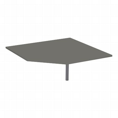 Geramöbel Verkettungsplatte 657510 4-Fuß PRO Fünfeck 90° höhenverstellbar Tiefe 122,5 x 122,5cm Buche/Silber