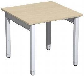 Geramöbel Schreibtisch 4-Fuß Pro Quadrat 667101 höhenverstellbar 68-86cm (BxT) 800x800cm Ahorn/Silber