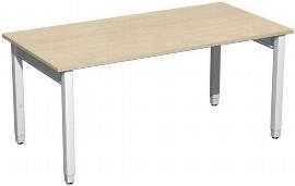Geramöbel Schreibtisch 4-Fuß Pro Quadrat 667103 höhenverstellbar 68-86cm (BxT) 1600x800cm Ahorn/Silber