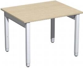 Geramöbel Schreibtisch 4-Fuß Pro Quadrat 667144 höhenverstellbar 68-86cm (BxT) 1000x800cm Ahorn/Silber