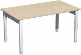 Geramöbel Schreibtisch 4-Fuß Pro Quadrat 667145 höhenverstellbar 68-86cm (BxT) 1400x800cm Ahorn/Silber