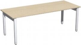 Geramöbel Schreibtisch 4-Fuß Pro Quadrat 667147 höhenverstellbar 68-86cm (BxT) 2000x800cm Ahorn/Silber