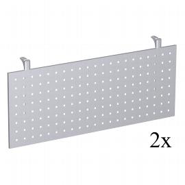 Geramöbel Knieraumblende 4-Fuß Pro Quadrat 667610 (H) 40cm (2er Set) für Fünfeckplatte Lochblech Silber