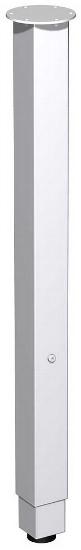 Geramöbel 667910 Einzelstützfuß Rundrohr Ø60mm Höhe 655-835mm Silber