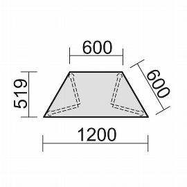 Geramöbel 710129 Trapezformtisch feste Höhe, 600-1200x519x720, Ahorn/Anthrazit