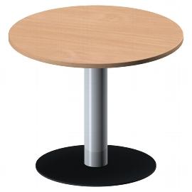 Geramöbel 710202 Besprechungstisch Kreisform Tellerfuß feste Höhe (ØxH) 1000x720mm Buche