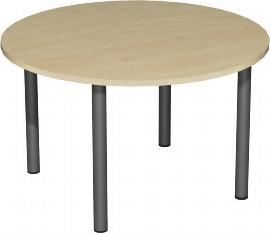 Geramöbel 710203 Besprechungstisch Kreisform Rundfuß feste Höhe (ØxH)1200x720 Ahorn/Anthrazit