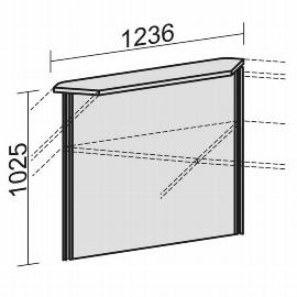 Geramöbel Thekenelement 90° 830090 Oberboden gerade für Tischbreite 800mm Ahorn