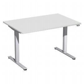 Geramöbel 08D1608 Elektro-Hubtisch Elektro Smart (BxTxH) 1600x800x700-1200mm Ahorn/Silber