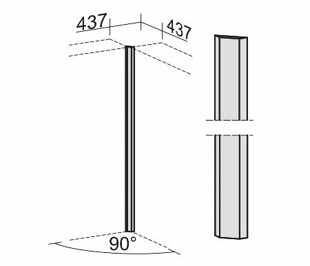 Geramöbel 306100 Eckverbinder 90° 6 OH Element zur Eckverblendung Ahorn