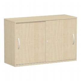 Geramöbel 312253 Schiebetürenschrank 3OH abschließbar (HxBxT) 798x1200x425mm Ahorn/Ahorn
