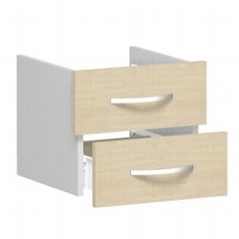 Geramöbel Schubkasteneinsatz 341700-A Flex Schubladen 2er-Set 1OH für Korpusbreite 40cm Ahorn