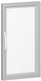 Geramöbel Glastür 342901-GT Flex Glastür 2OH satiniert im Holzrahmen für Korpusbreite 400 mm Silber